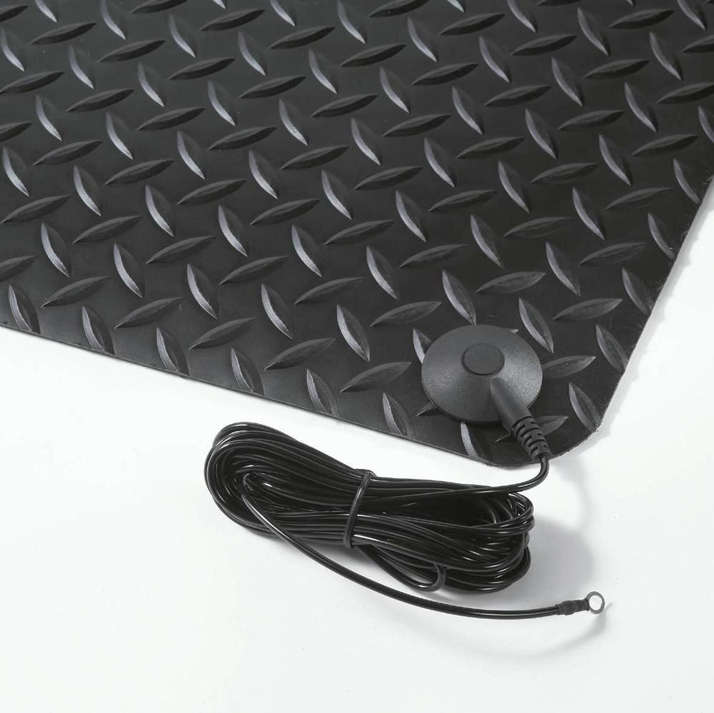 Anti-static mat 1 with earthing cable and ring connection, 0.9 x 1.5 metres