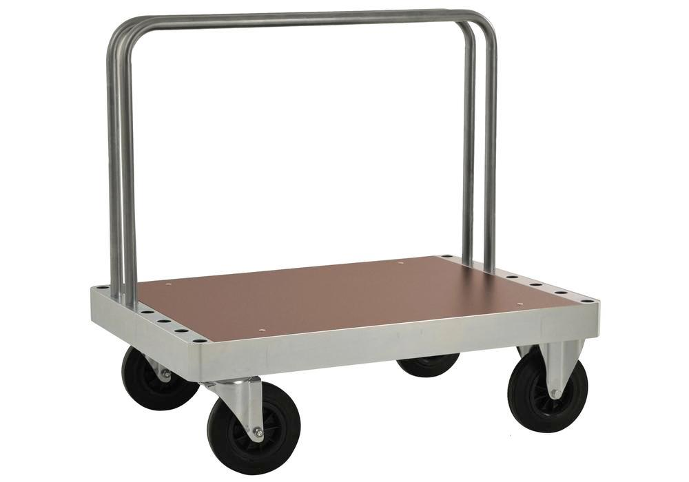 Board trolley KM for heavy loads, 2 tubular frames, MDF coated boards, LxW 1000 x 700 mm, brake
