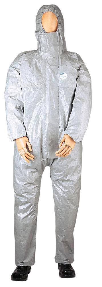 Chemical Protective overall Tychem F, CE/PPE category III, models 3, 4, 5, 6, size L, grey