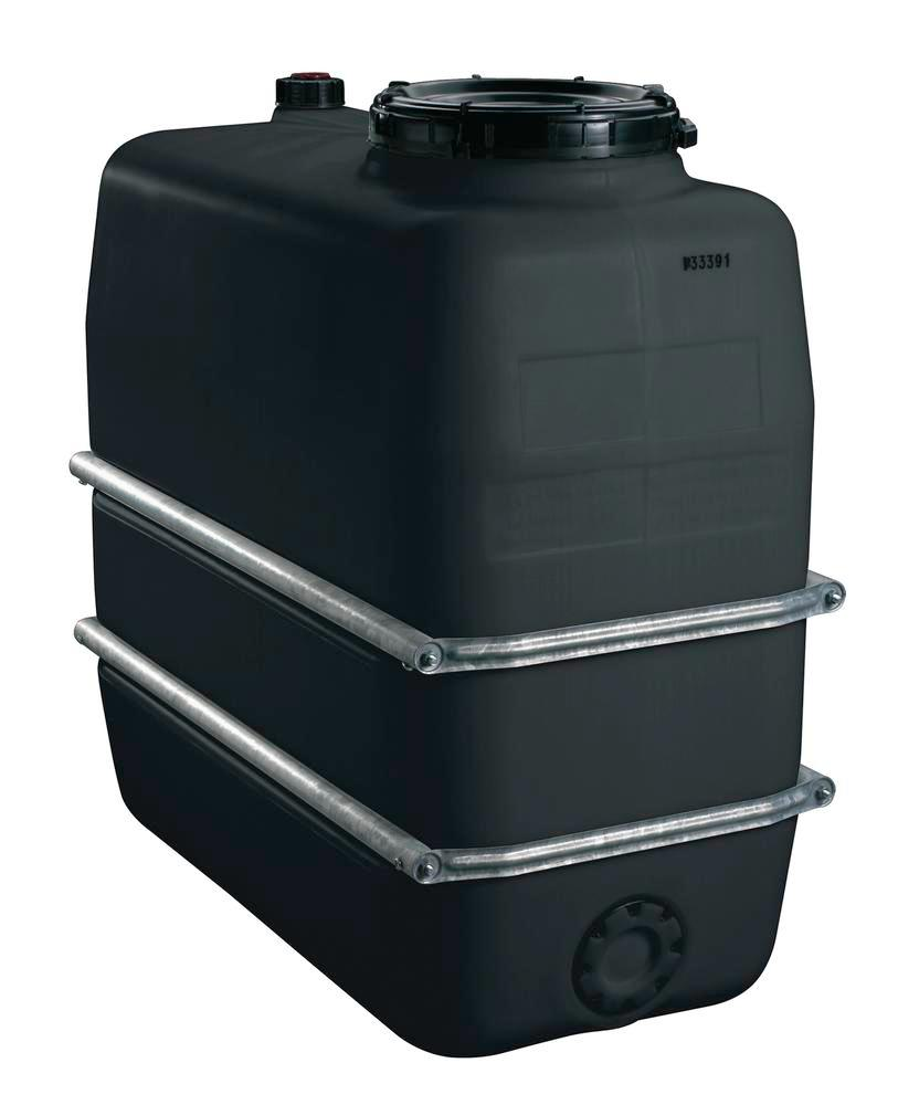 Chemical tank in polyethylene (PE), 1100 litre volume, black