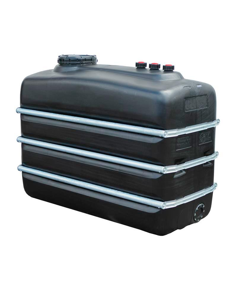 Chemical tank in polyethylene (PE), 3,000 litre volume, black