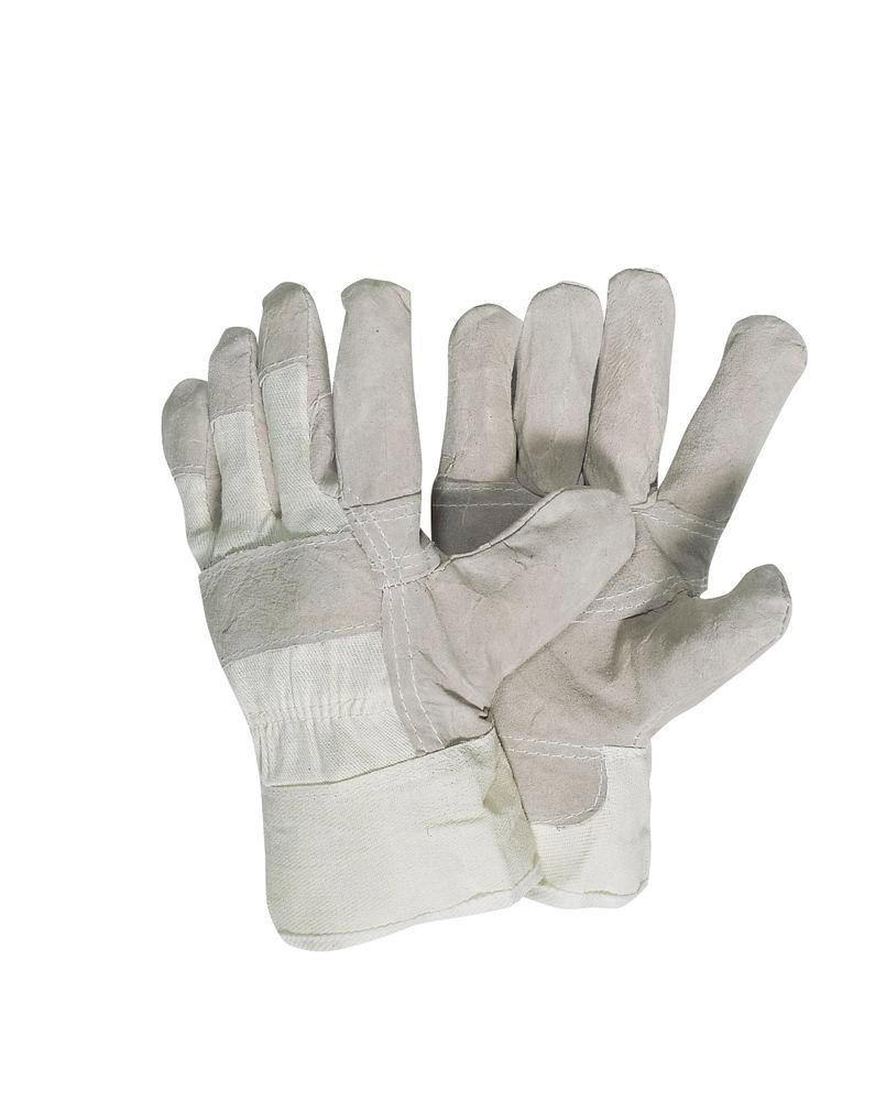 Cow split leather gloves, lined, size 10.5, Category I, 12 pairs per pack