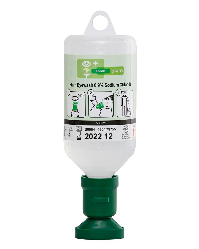 Eye rinse bottle with 500 ml 0.9 %