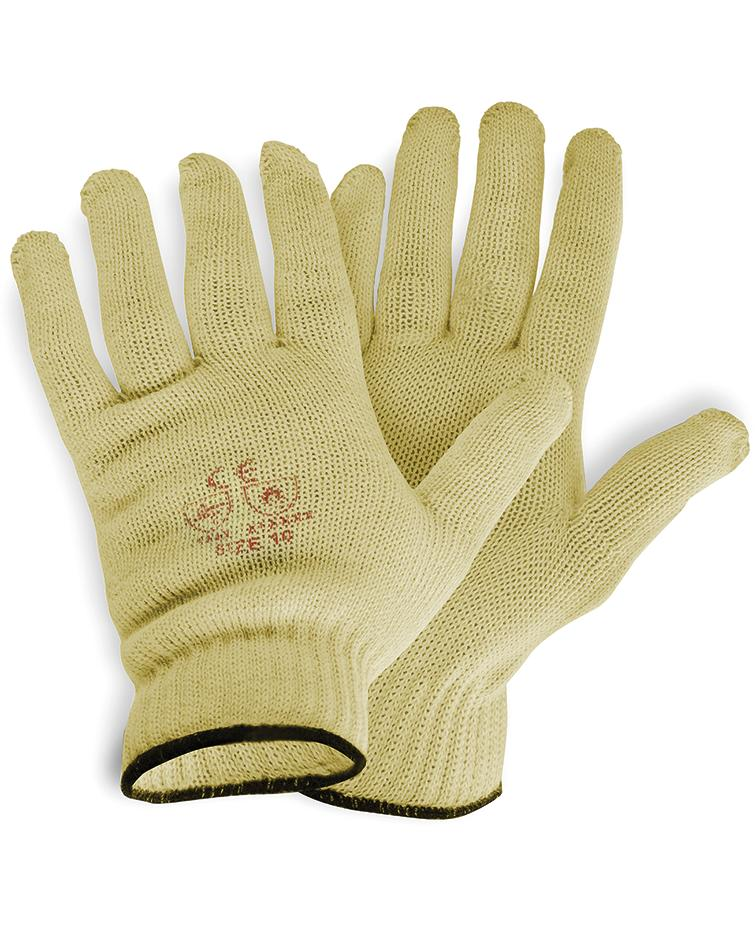 Kevlar cut protection gloves, no dimples, Category II, Size 10 - 2