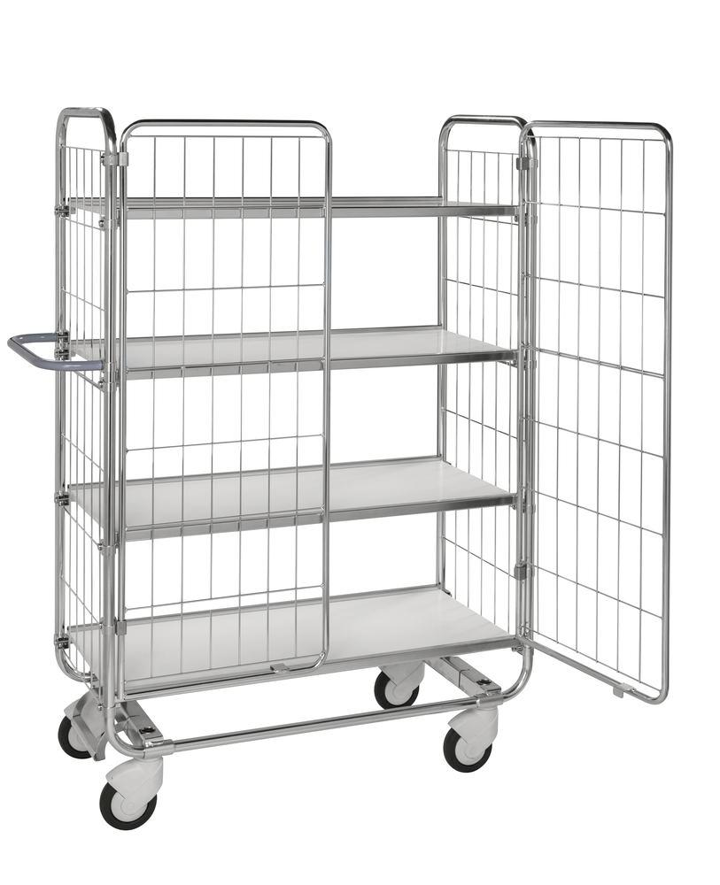 Mesh doors, 1 pair, for tiered trolley KM with 4 shelves and L 1195 mm