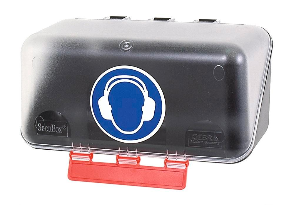 Minibox f hearing protect., transparent