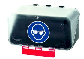 Minibox for eye protection, transparent-w280px