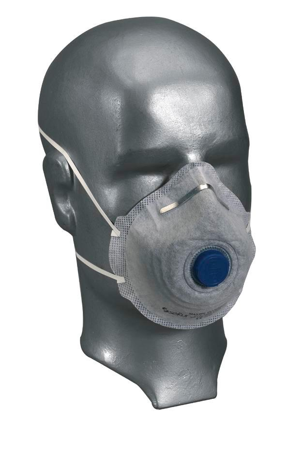 Odour protection mask, filter class FFP2 Combi / V, with Cool-Down exhal. valve, to EN 149, 12 items