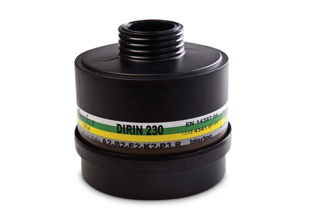 Particle filter DIRIN 230 A2 B2 E2 K2-P3 R, for fume protection masks 330, 607, 607 TR and SEFRA