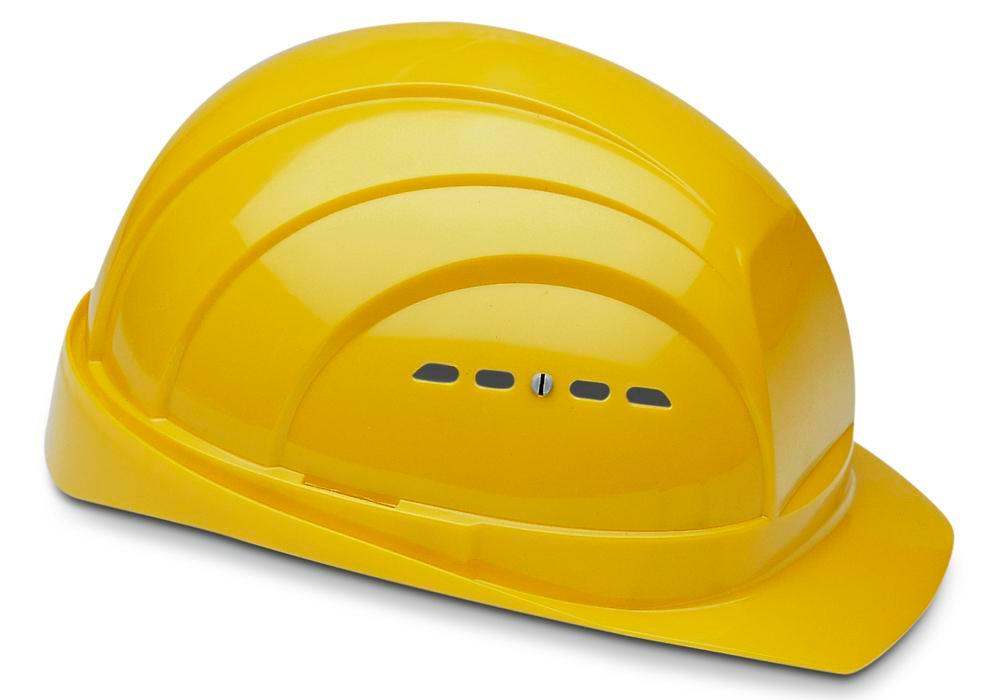 Schuberth safety helmet with 4 point strap, meets DIN-EN 397, yellow