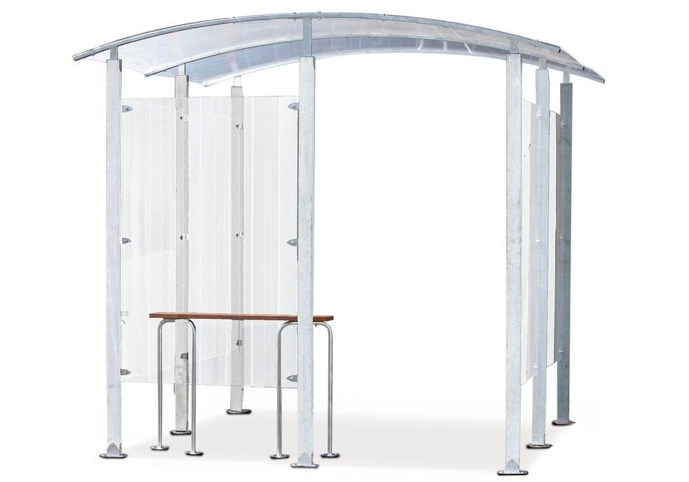 Smoking Shelter, for wall mounting, 4 m2