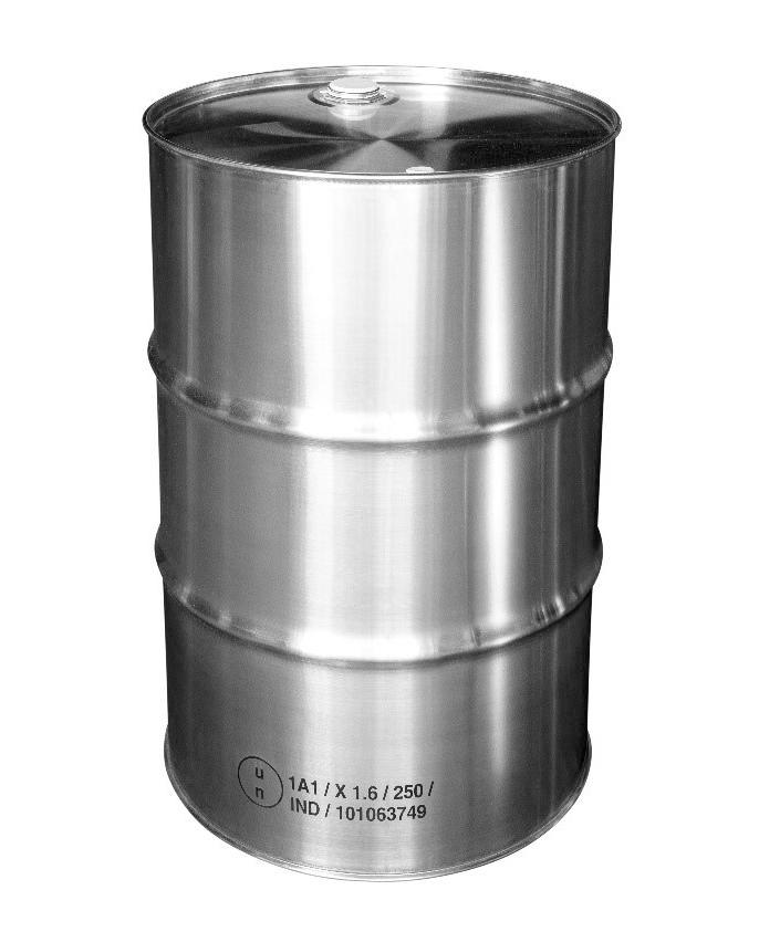 St. steel bung drum, 216.5 litre, 1.0 mm thick, 1.4404 - 1