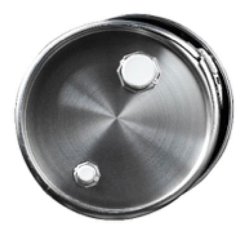 Stainless steel lidded drum with 2'' and 3/4'' bung, 30 litre, 1.0 mm thick, 1.4404
