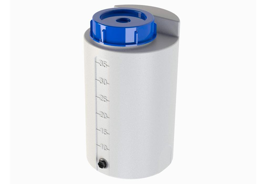 Storage and dosing containers in polyethylene (PE), 35 litre, natural - transparent