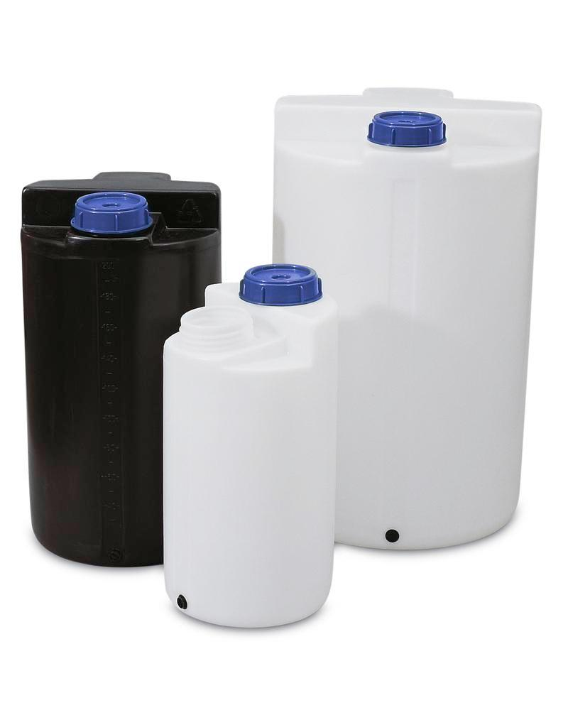 Storage and pouring containers 3850 ltr, transparent