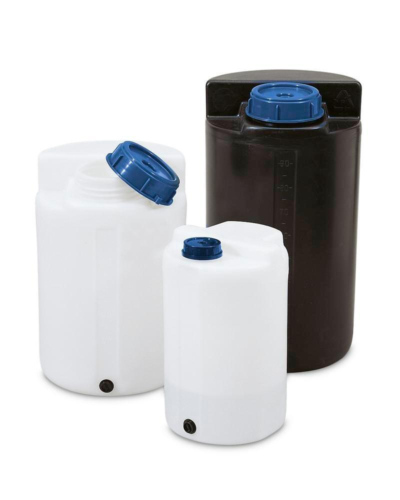 Storage and pouring containers 60 ltr, black
