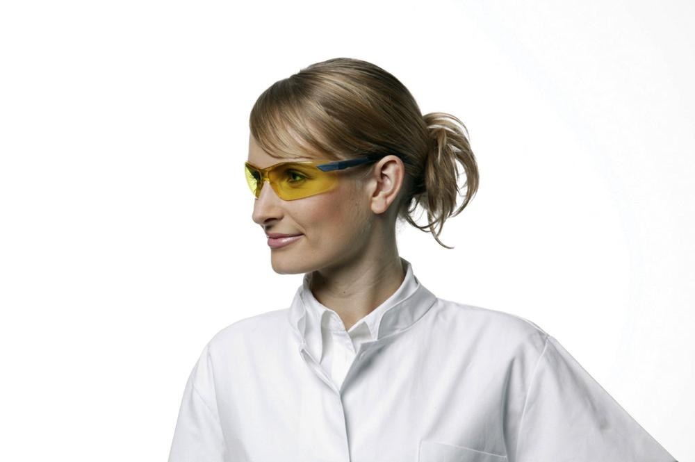 3M safety glasses 2822, Classic range, with yellow polycarbonate lenses, AS/AF/UV - 1