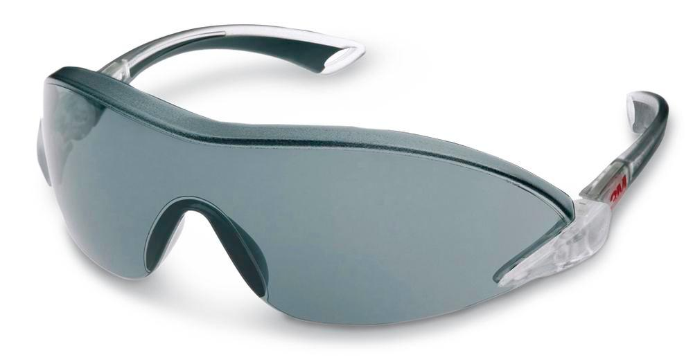 3M safety glasses 2841, Comfort, grey, polycarbonate, adjustable arm length and angle, AS/AF/UV