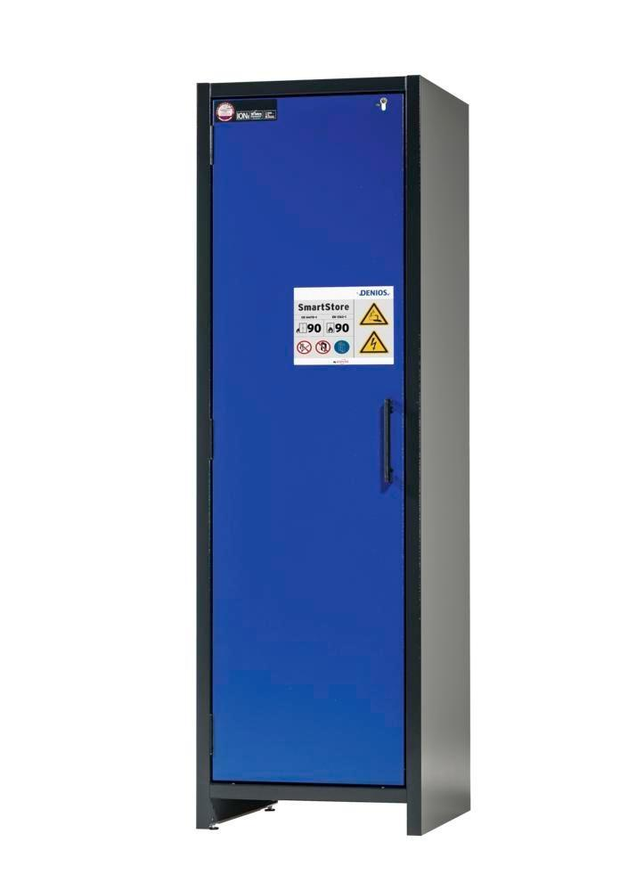 asecos Lithium-ion battery charging cabinet SmartStore-UK, 4 shelves, W 600 mm