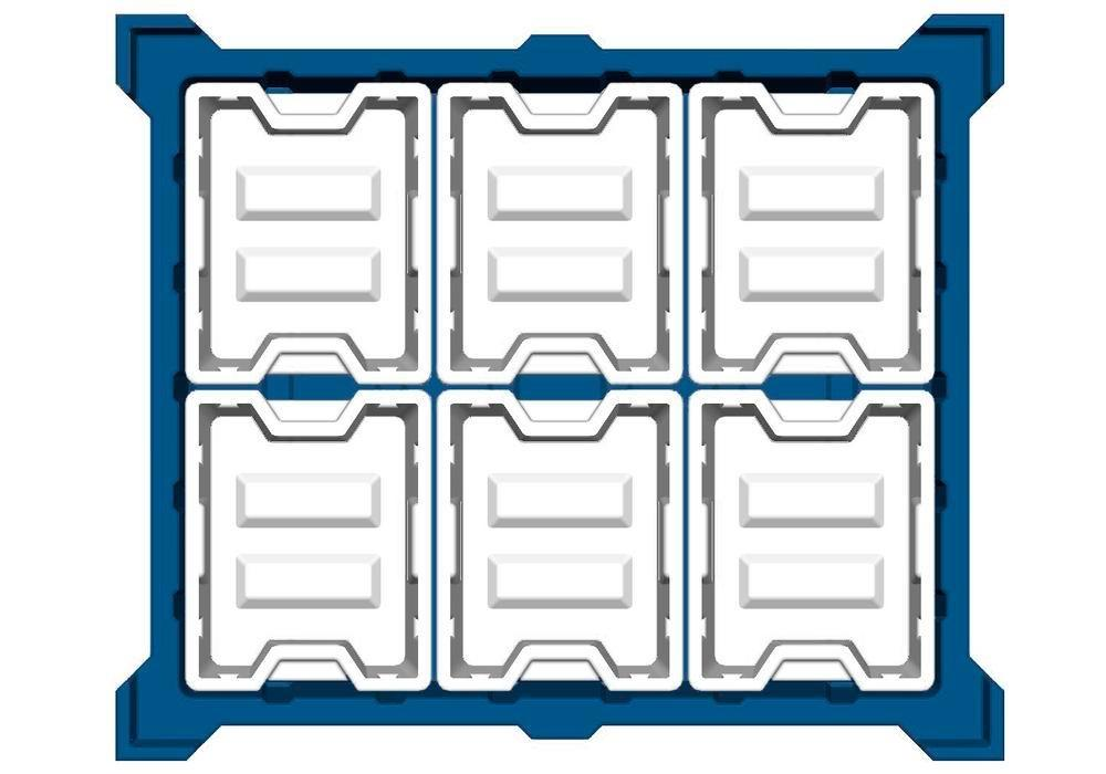 Box insert in polyethylene (PE) for stacking containers PolyPro 400 litre, 351 x 430 x 440 mm - 2