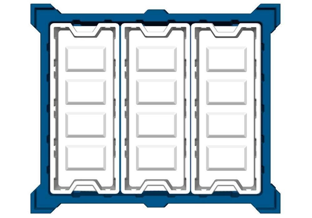 Box insert in polyethylene (PE) for stacking containers PolyPro 400 litre, 351 x 865 x 440 mm - 2
