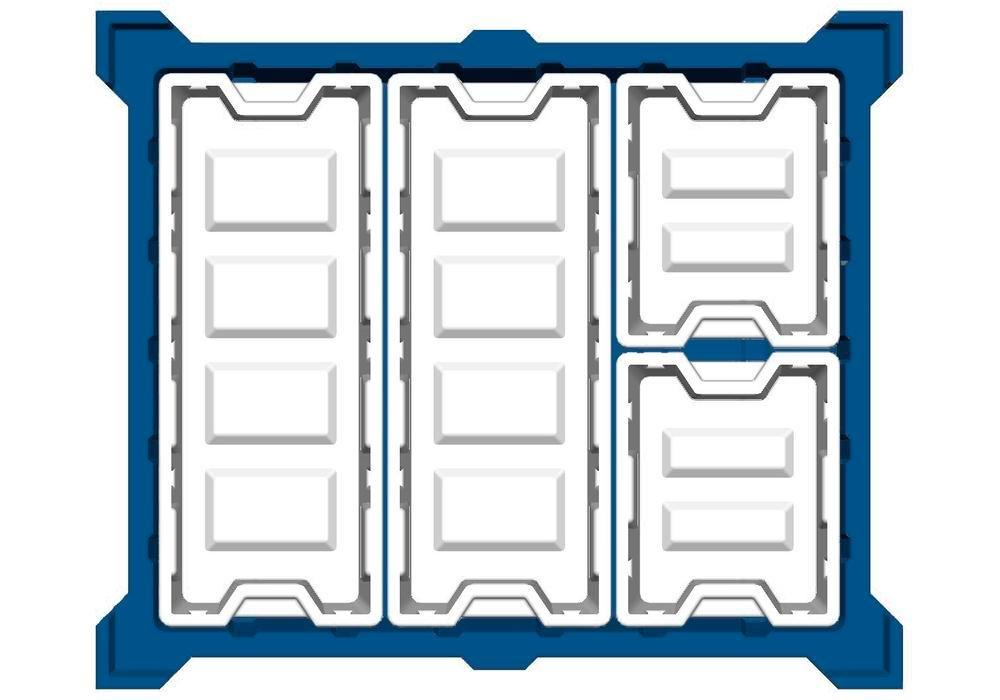 Box insert in polyethylene (PE) for stacking containers PolyPro 400 litre, 351 x 865 x 440 mm
