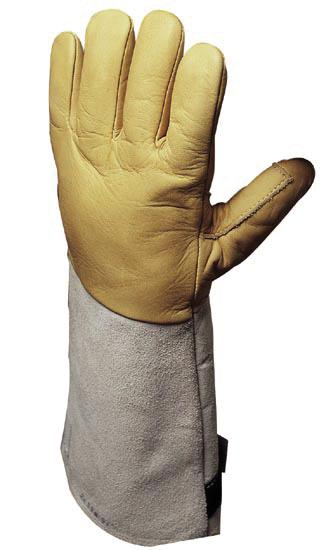 Cold gloves Cryogenic, hydrophobic, insulating, calf grain leather, Cat II, Sz. 9, 1 pair - 1