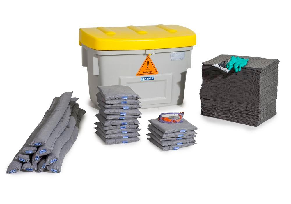 DENSORB Emergency Spill Kit in Safety Box SF200, application UNIVERSAL