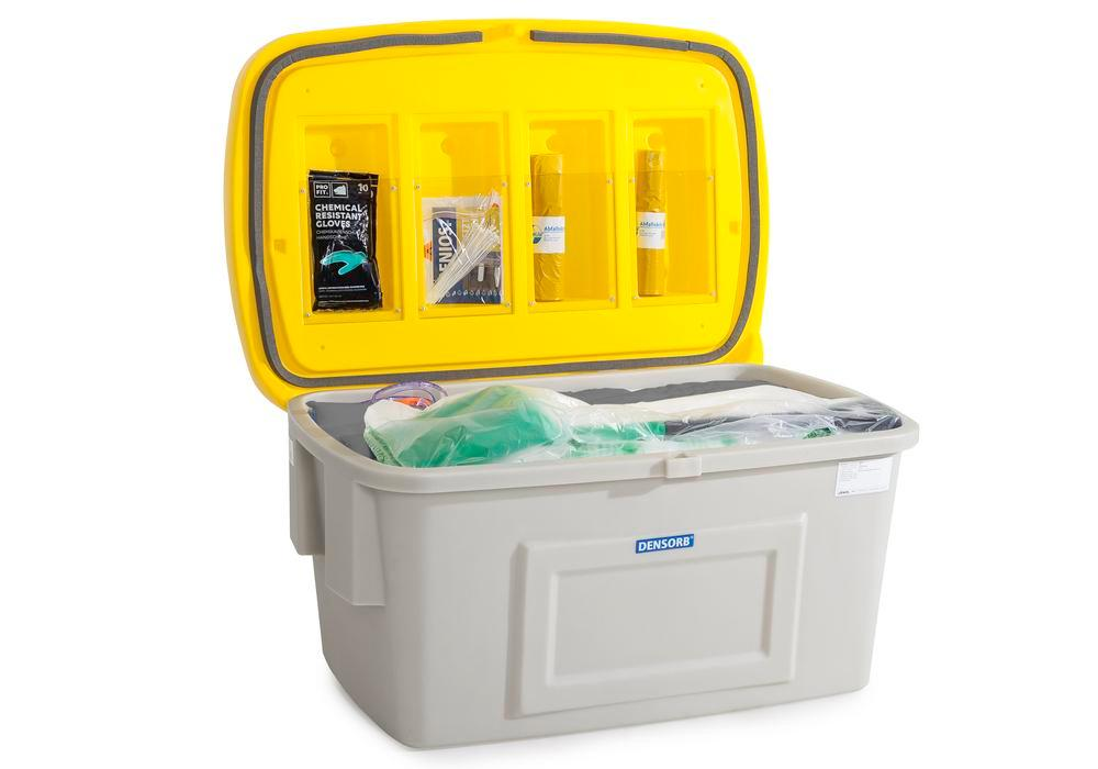 DENSORB Emergency Spill Kit in Safety Box SF400, application UNIVERSAL