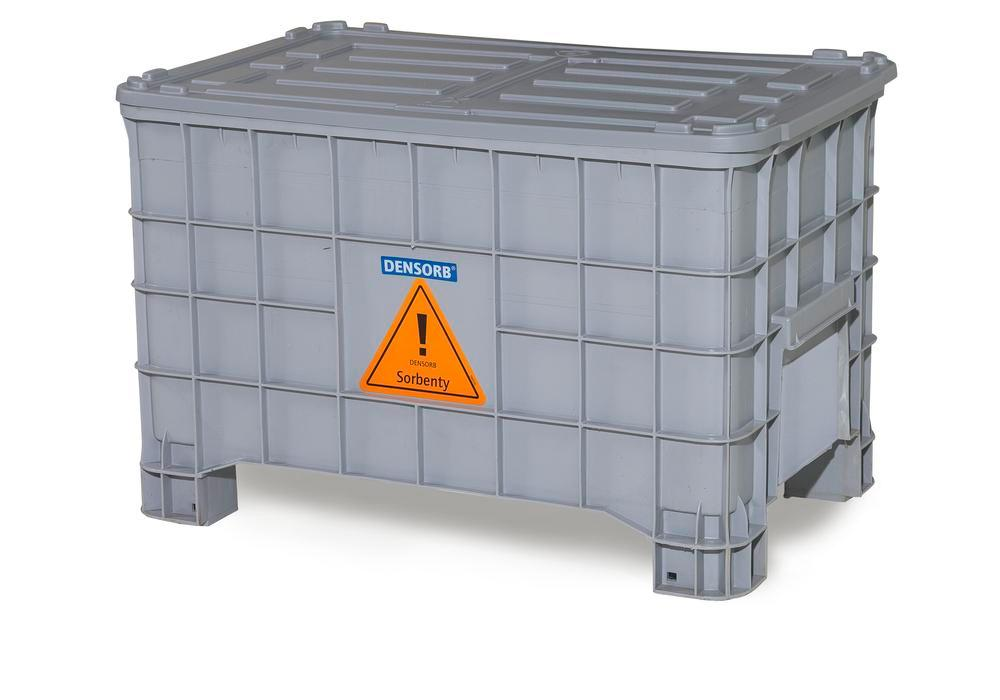 DENSORB Emergency Spill Kit in Storage Box with Lid, application OIL