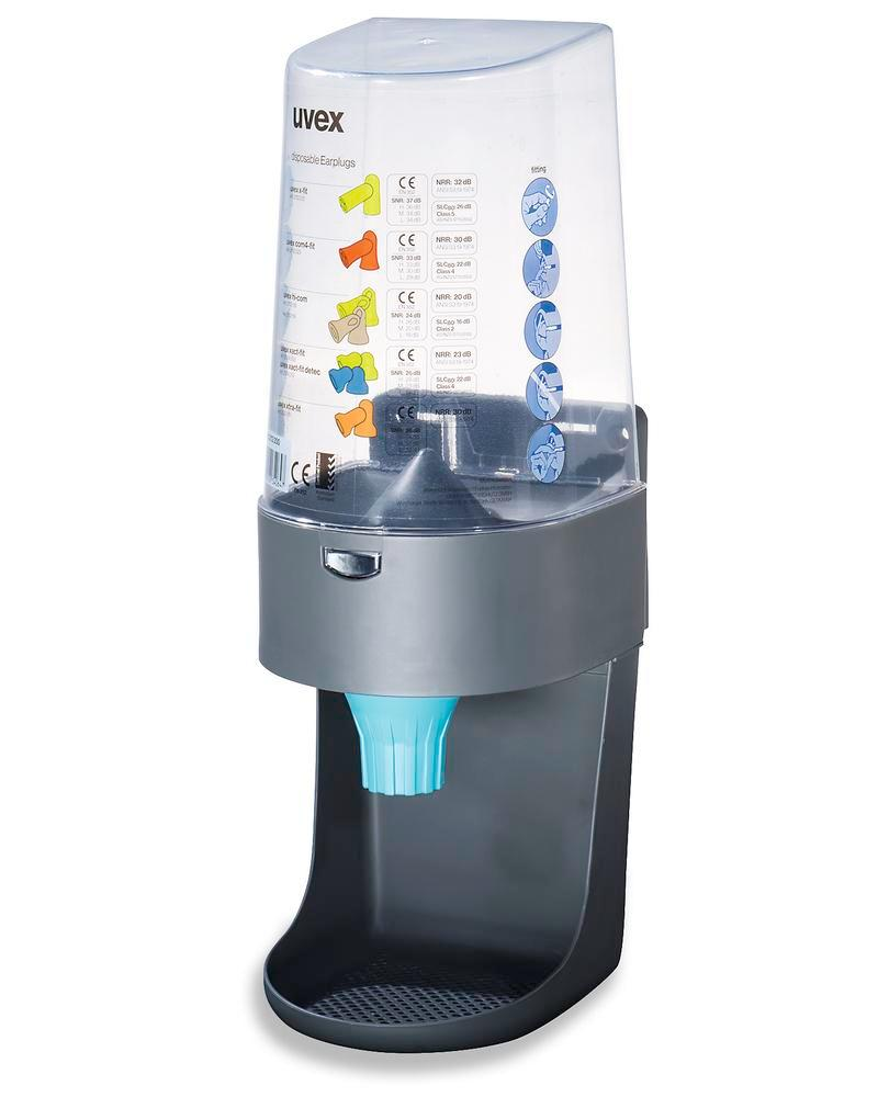 Dispenser for uvex disposable hearing protection plugs for 600 pairs of earplugs