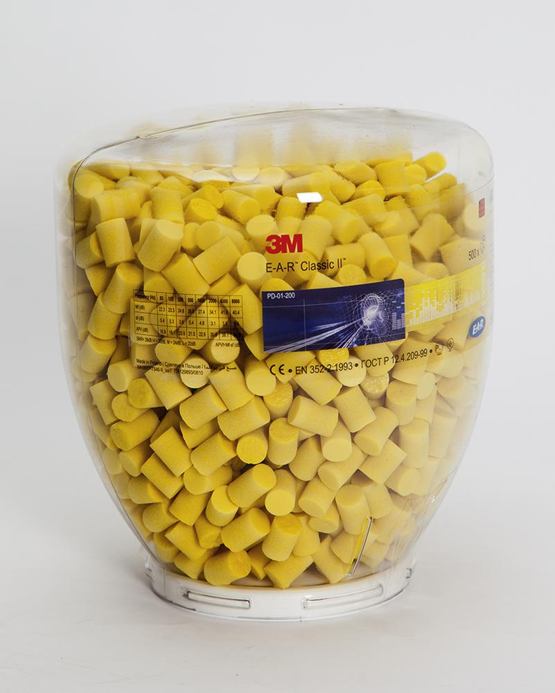 Ear plugs class II, refill pack for one touch ear plug dispenser, 500 pairs - 1