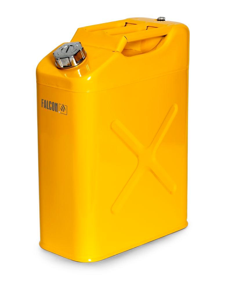 FALCON safety canister in steel, painted, with transport approval, 20 litres