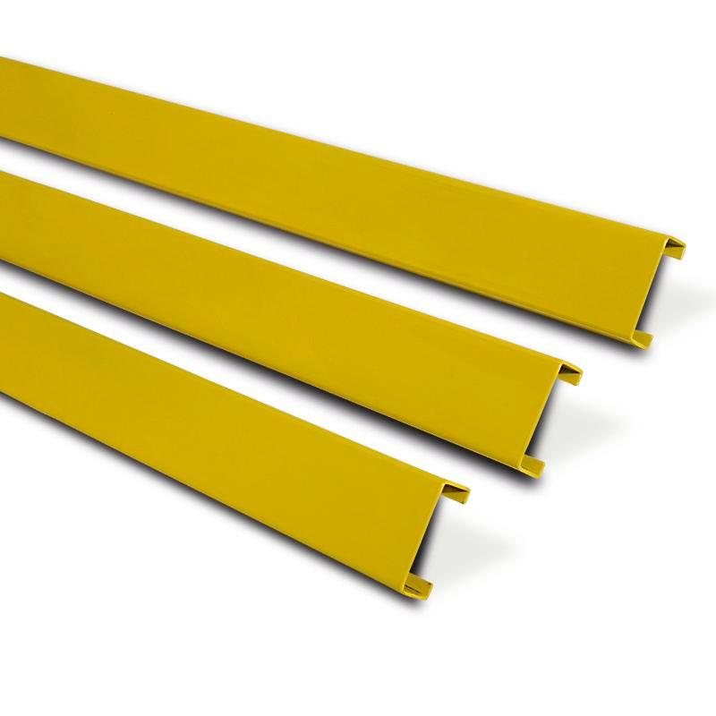 Impact protection board Safe, W 1500 mm, model 15-ZK, hot-dip galvanised and plastic-coated, yellow - 1