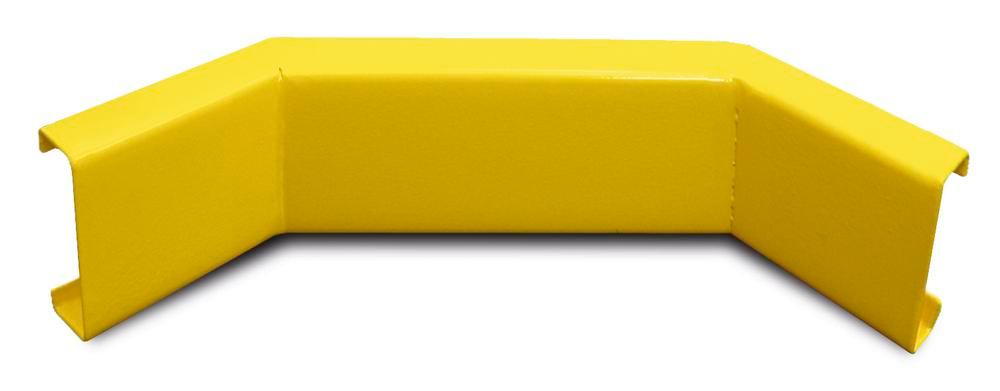 Internal corner for Safe impact protection board, plastic coated, yellow