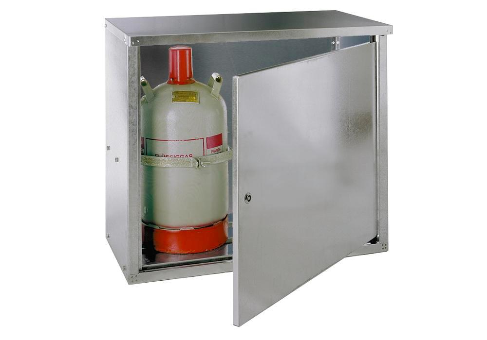 Liquid gas cabinet, ST 20 for 2 x 11 kg cylinders, walls with no perforations and 1 wing door