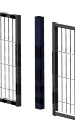 Partition wall system Easyline centre top post - 1