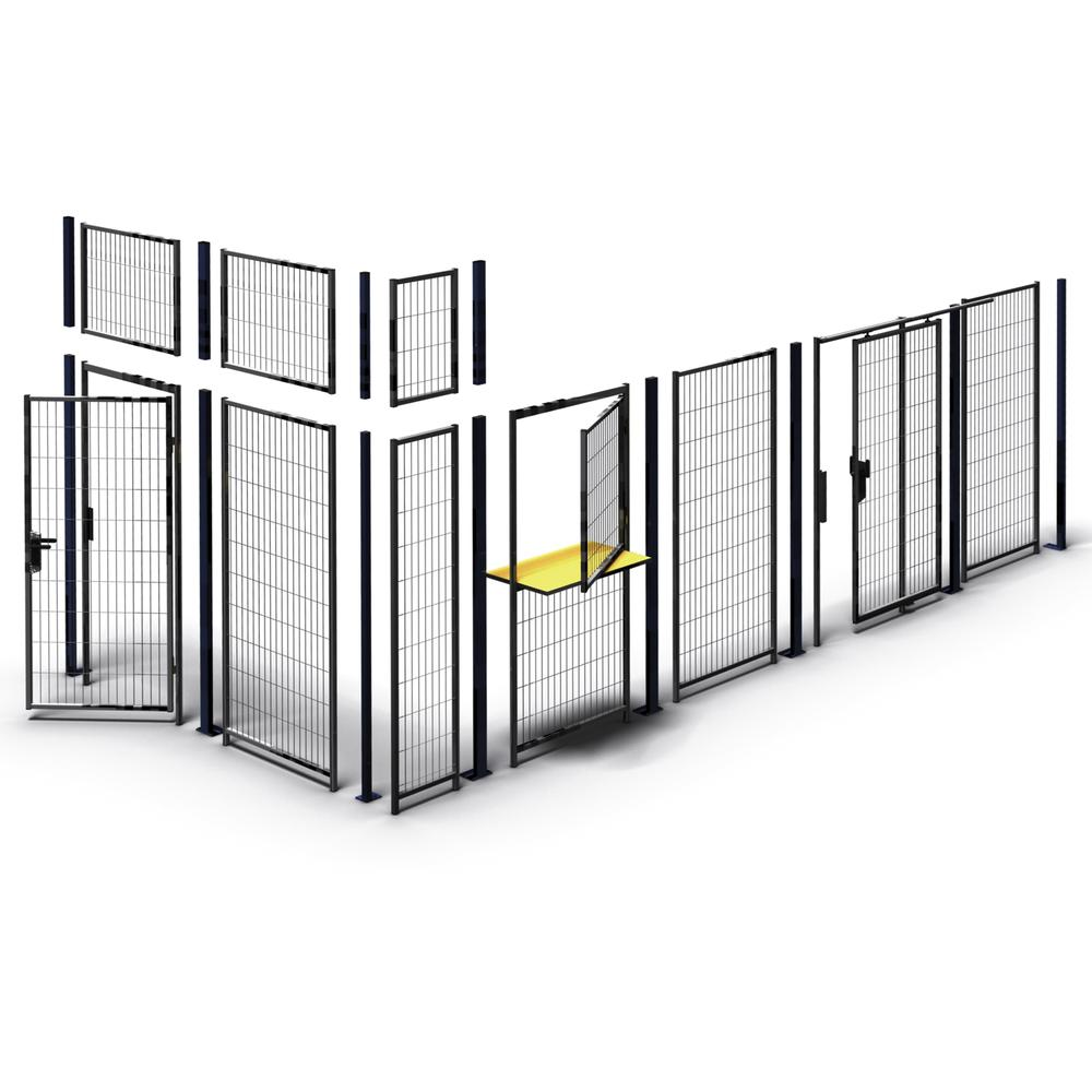 Partition wall system Easyline centre top post