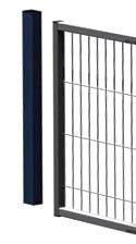 Partition wall system Easyline wall closure profile, top post
