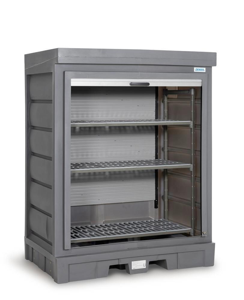 PolySafe Depot D, with plastic shelf, for small containers with roller shutter door - 2