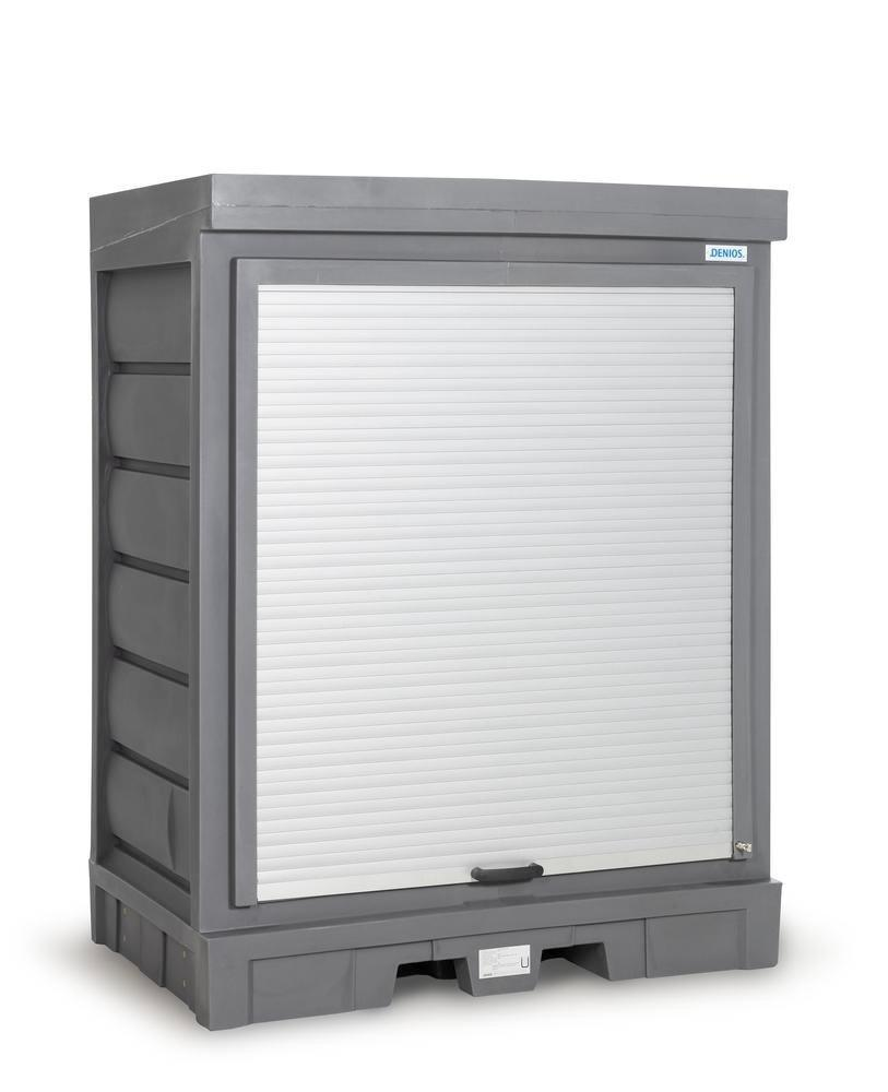 PolySafe Depot D, with plastic shelf, for small containers with roller shutter door - 3