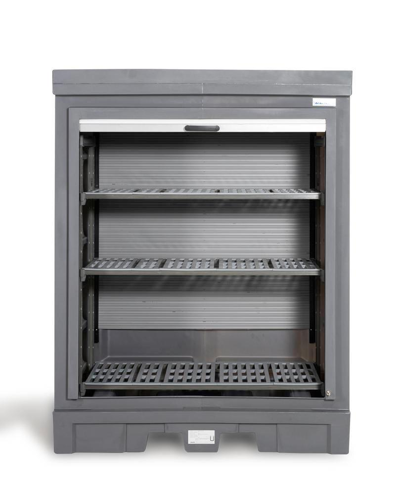 PolySafe Depot D, with plastic shelf, for small containers with roller shutter door - 4