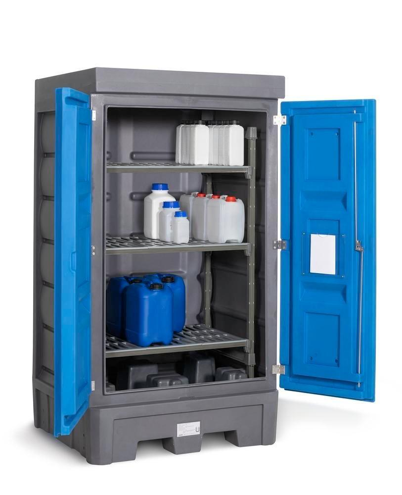 PolySafe Depot D1, with plastic shelf, for small containers with doors - 1