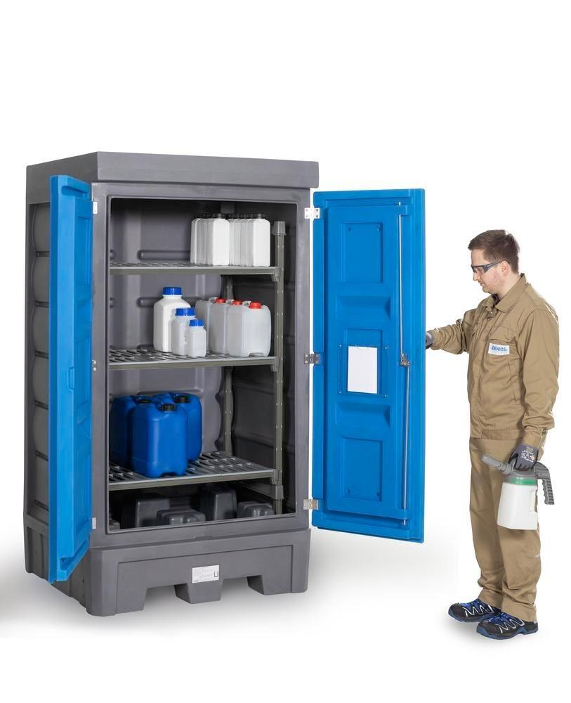 PolySafe Depot D1, with plastic shelf, for small containers with doors - 2