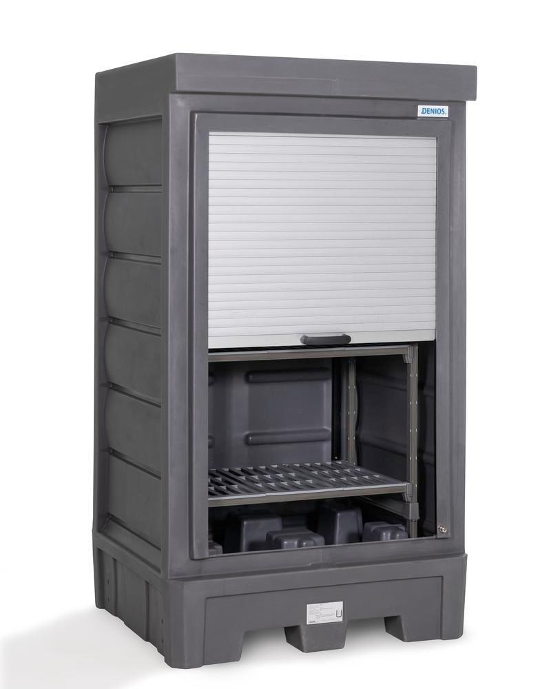 PolySafe Depot D1, with plastic shelf, for small containers with roller shutter door - 3