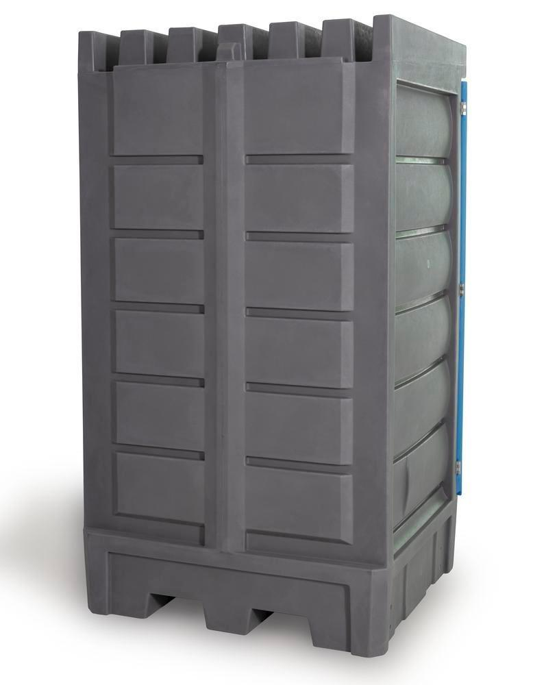 PolySafe depot D1, with steel shelf, for small containers with doors - 3