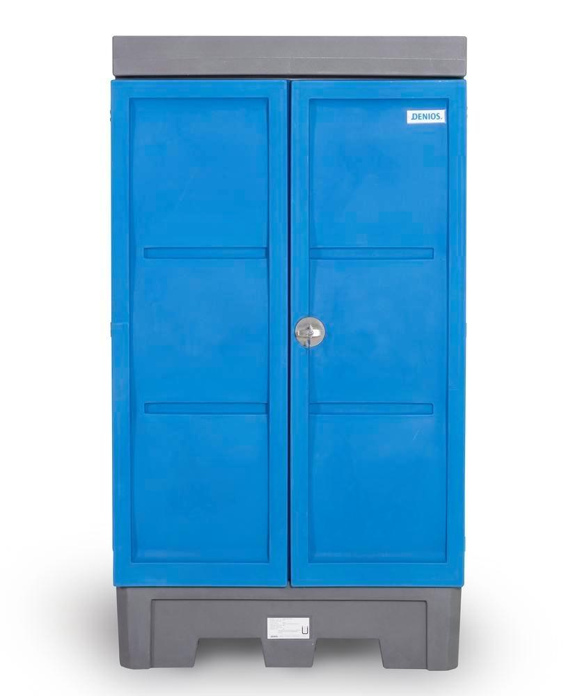 PolySafe depot D1, with steel shelf, for small containers with doors - 4