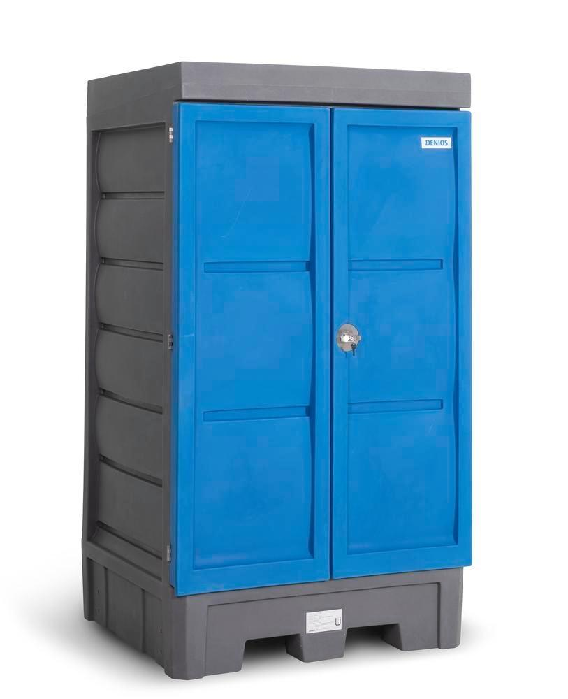 PolySafe depot D1, with steel shelf, for small containers with doors - 5