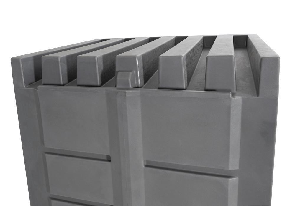 PolySafe depot D1, with steel shelf, for small containers with roller shutter door - 5
