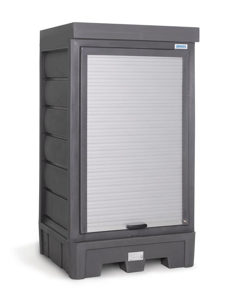 PolySafe depot D1, with steel shelf, for small containers with roller shutter door - 8
